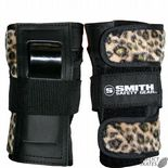 "SMITH ""Scabs"" Leopard Wrist Guards Snowboard Skateboard L only Protection SALE Roller Derby"